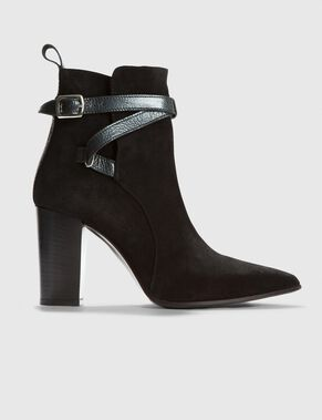 ANKLE PEARL SUEDE BOOTS
