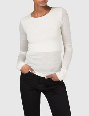 MINTE TRANSPARENT KNIT KNITTED PULLOVER