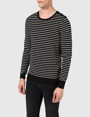 JASPER MIXED STRIPED KNITTED PULLOVER