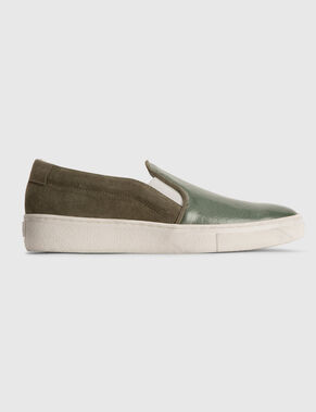 SLIP-ON PEARL SUEDE SHOES