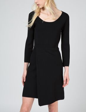 MAUDE DRAPY KNITTED DRESS