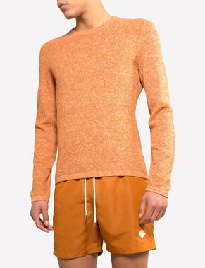 PER LINEN WAFFLE KNITTED PULLOVER