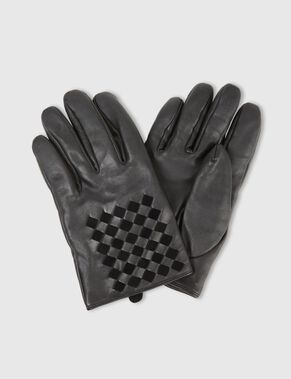 BRAIDED LEATHER GLOVES