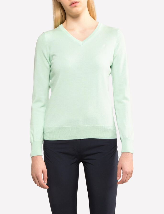 AMAYA TRUE MERINO KNITTED PULLOVER, Mint, large