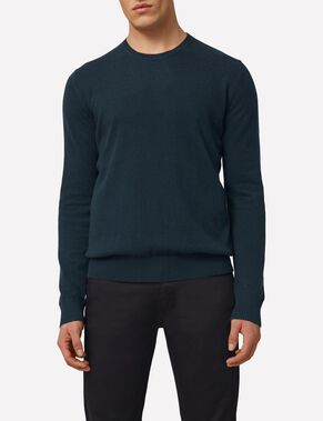 C-NECK LIGHT CASHMERE KNITTED PULLOVER