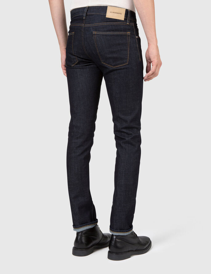 DAMIEN RAW COM DENIM JEANS, Dark Blue, large