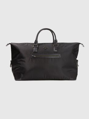 LEATHER NYLON WEEKEND BAG