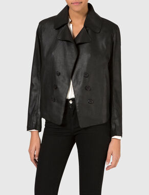 TRICIA WET SUEDE LEATHER JACKET