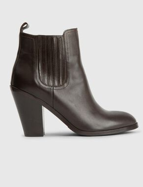 SOFT GRAIN ANKLE BOOTS
