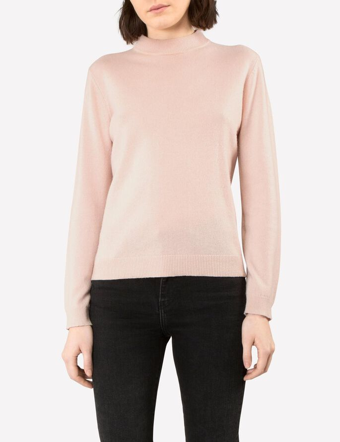 MANDY LIGHT CASHMERE KNITTED PULLOVER, LT Pink, large