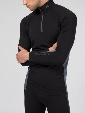 MERINO WOOL ZIP SPORTS TOP