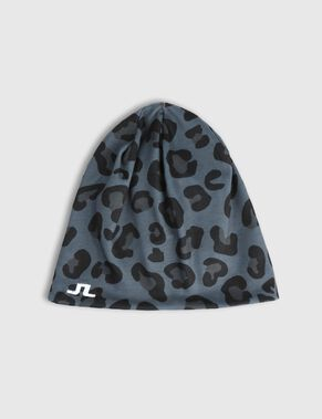 PANTHER PRINTED KNIT BEANIE