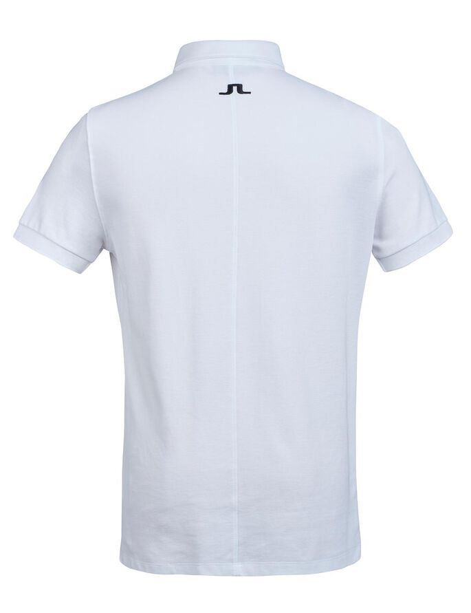 RUBI BUTTON-DOWN REG JL TOUR PIQUE POLO SHIRT, White, large