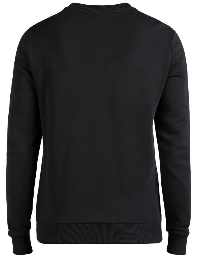 LEVI SUPIMA BOMULL SWEATSHIRT, Black, large
