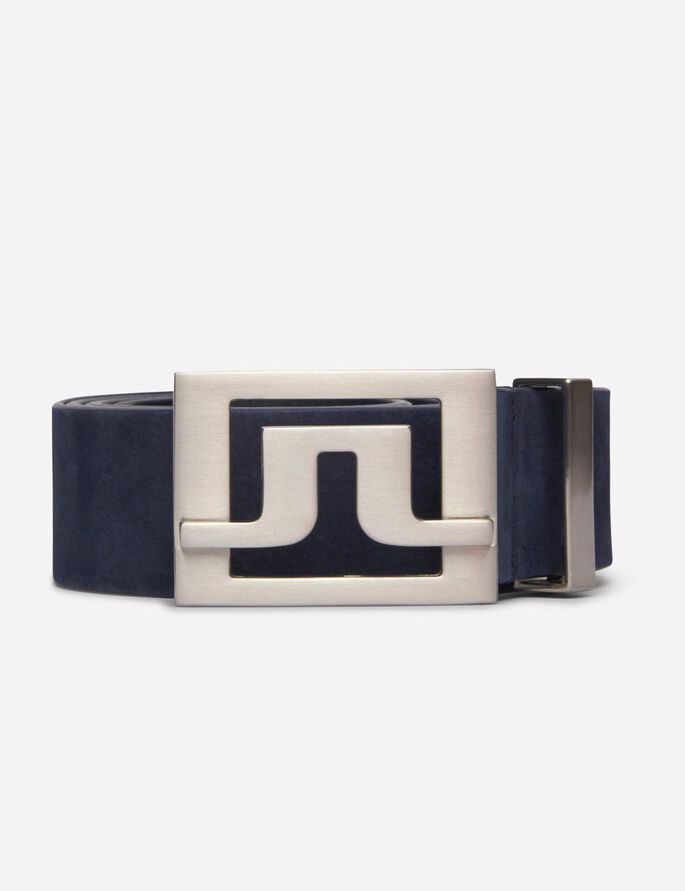 SLATER 40 BRUSHED LEATHER BELT, JL Navy, large
