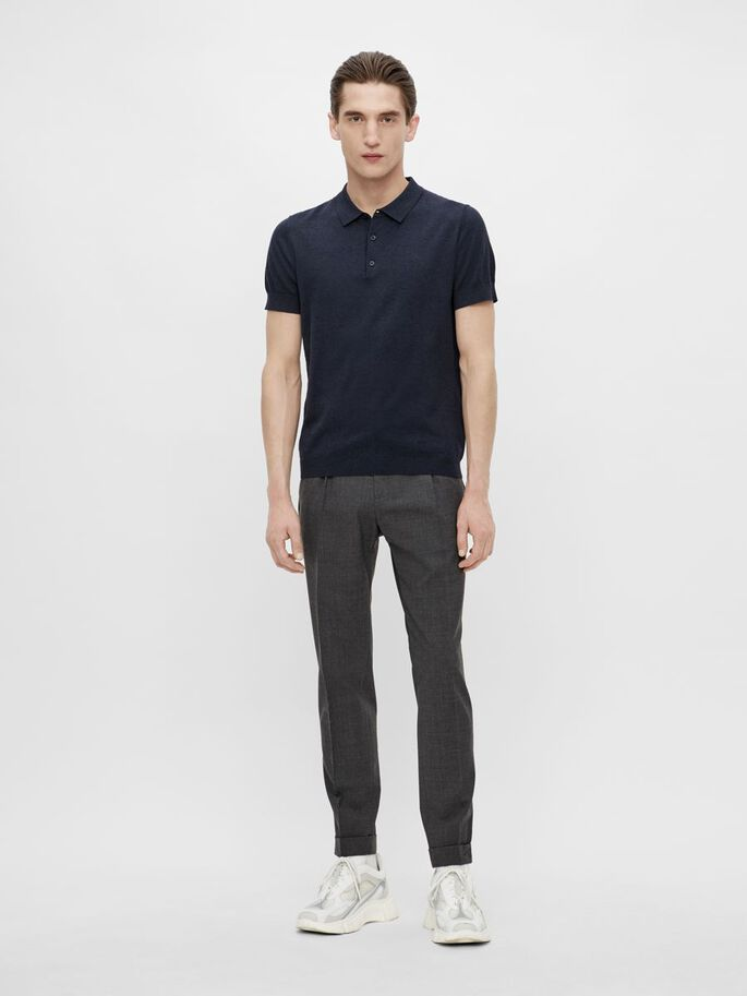 RIDGE COTTON SILK POLOSHIRT, JL Navy, large