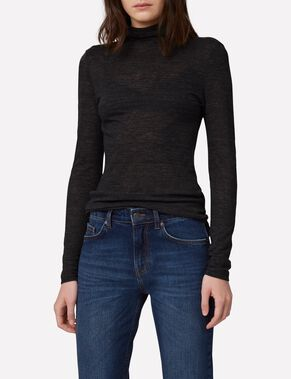 RAMONA WOOL JERSEY TURTLENECK