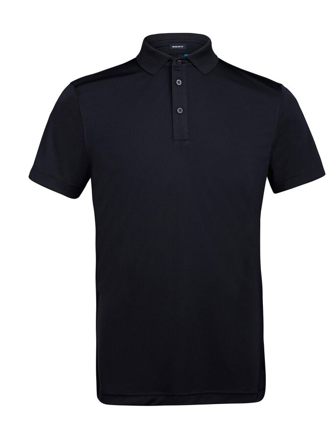 HUNTER REG 2.0 TX JERSEY POLO SHIRT, Black, large
