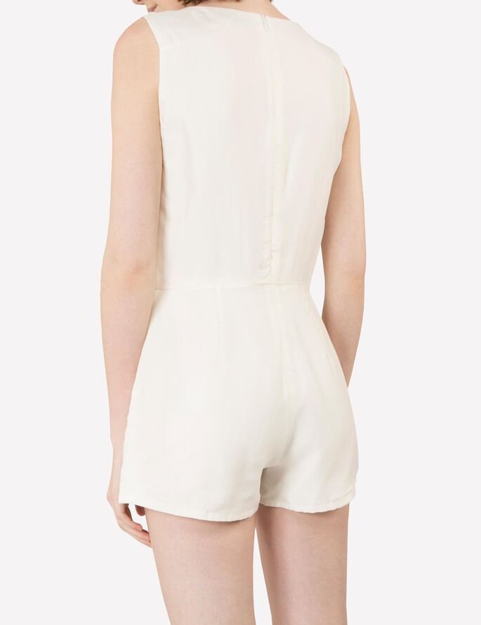 GOLDIE SMOOTH CUPRO PLAYSUIT, Off White, large