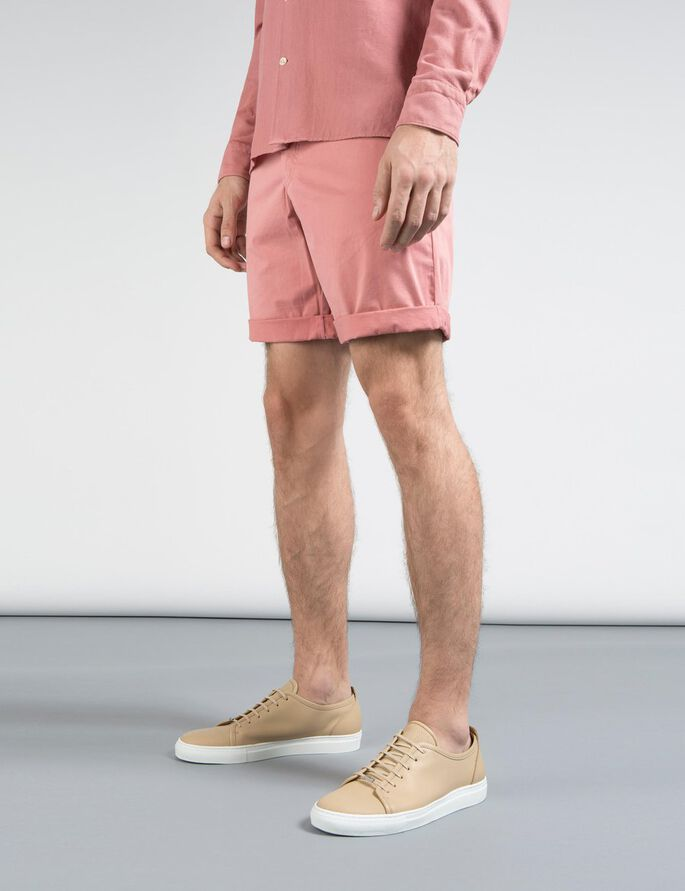 NATHAN SUPER SATIN CHINO SHORTS, Warm Dust Pink, large