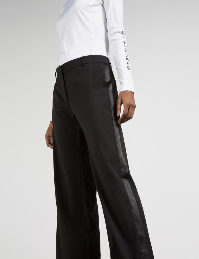 KELSEY TUX SPRING WOOL SUIT TROUSERS, Black, large