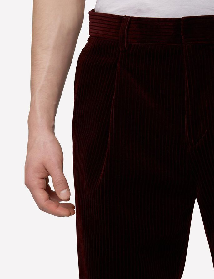 DROPPER WHALES BROEK, Dusty Burgundy, large