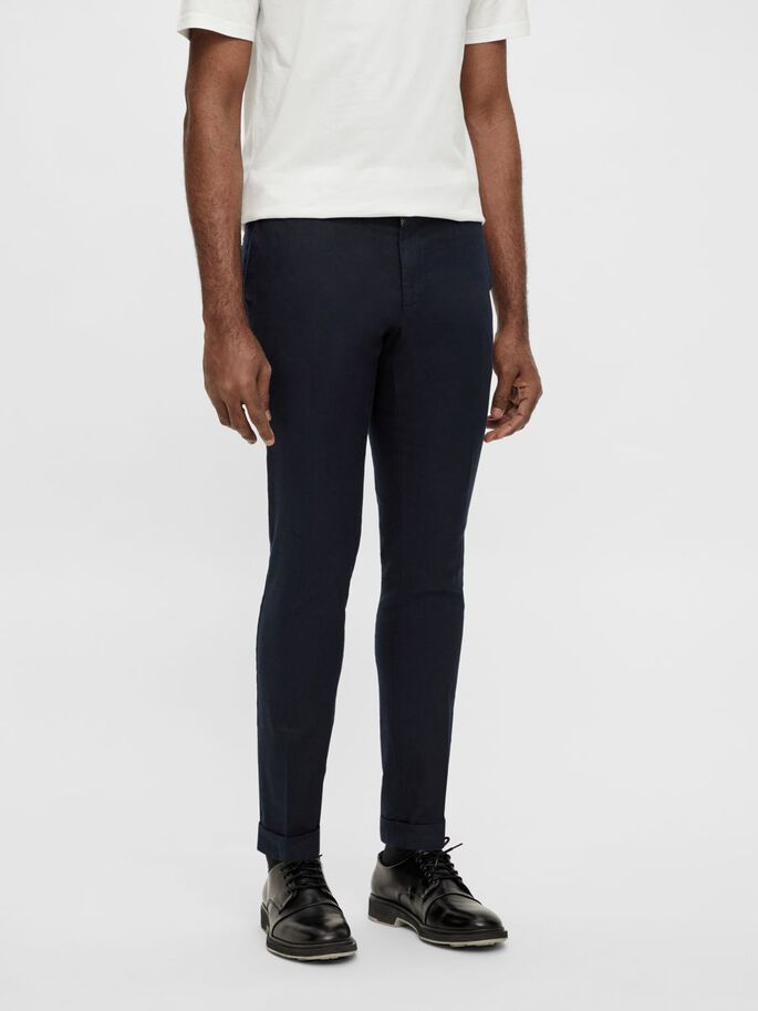 GRANT LINEN STRETCH HOSE, JL Navy, large