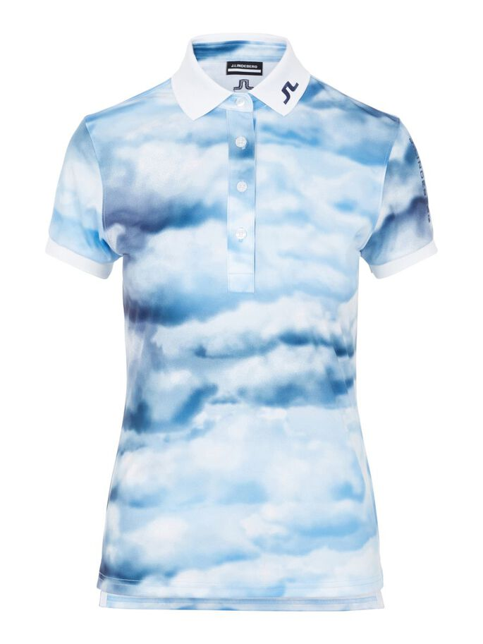 TOUR TECH POLO, CLOUD MIDNIGHT SUMMER BLUE, large