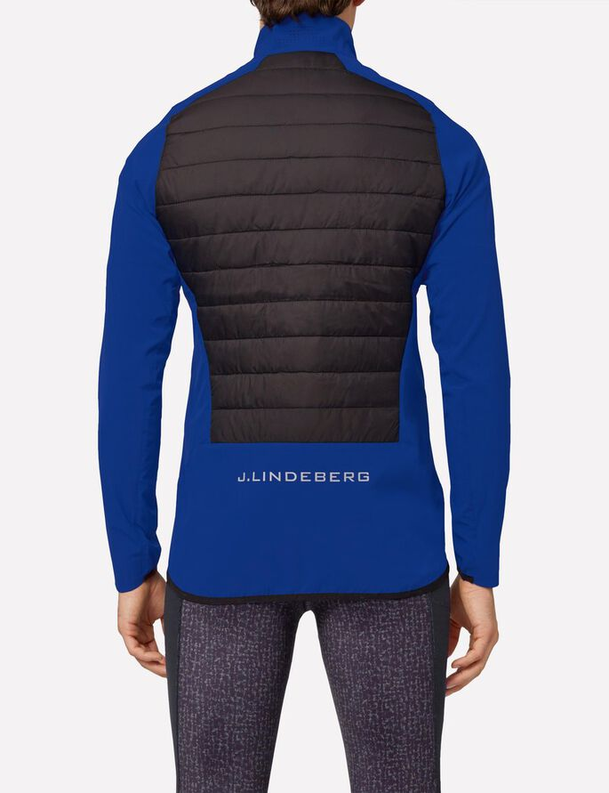 HYBRID MIXED POLY JACKE, Strong Blue, large