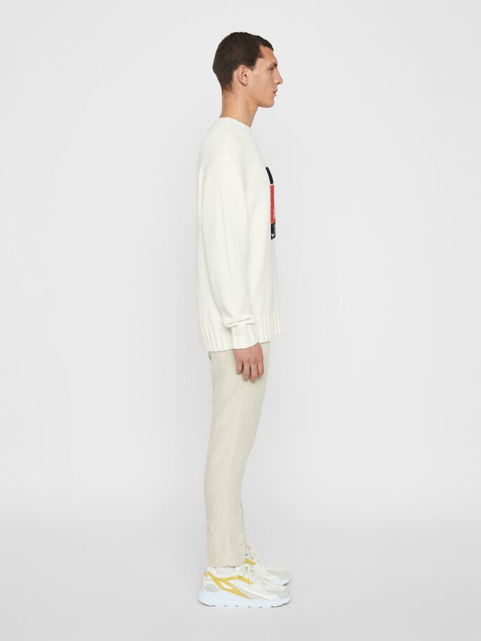 AUGUSTE KNITTED SWEATER, White, large