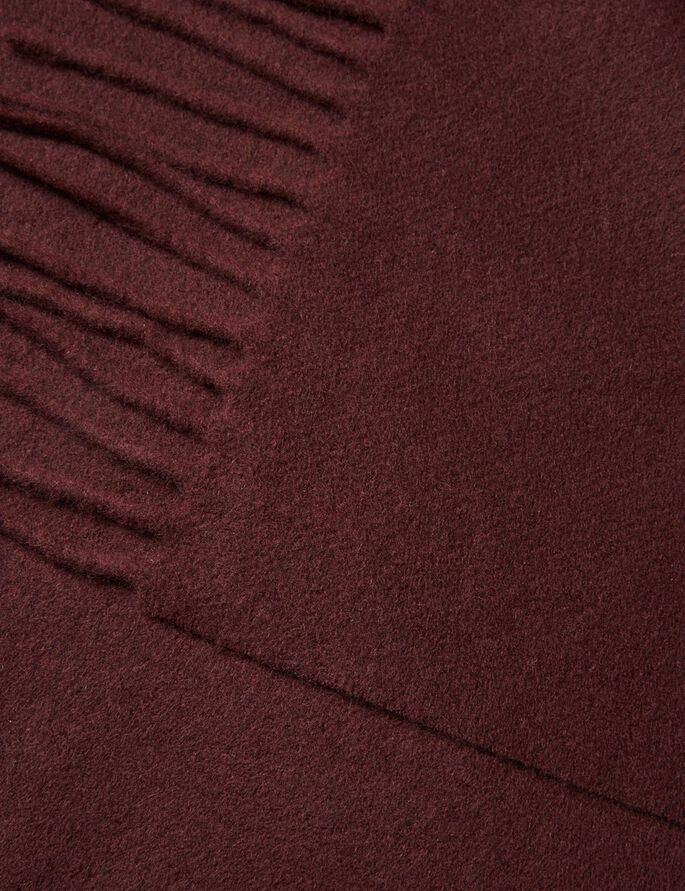 CHAMP SOLID WOOL SCARF, Dusty Burgundy, large