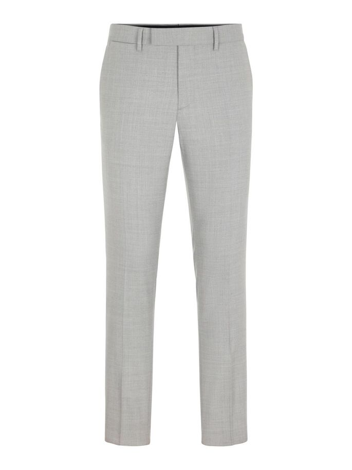 GRANT MICRO STRUCTURE TROUSERS, Lt Grey Melange, large
