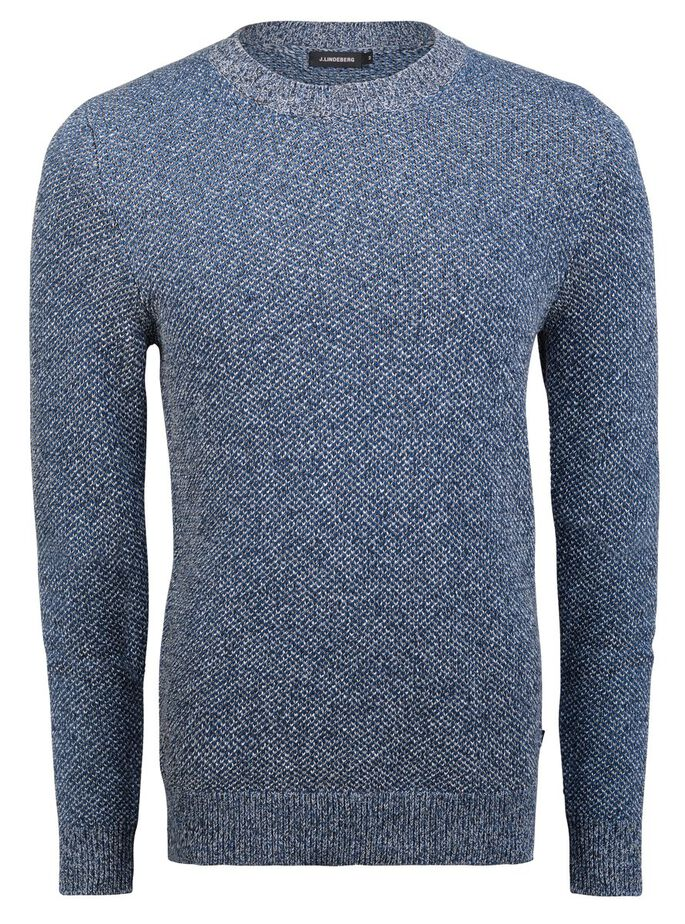 PATRIK TRIPPLE COLOR KNITTED PULLOVER, Dusty Blue, large