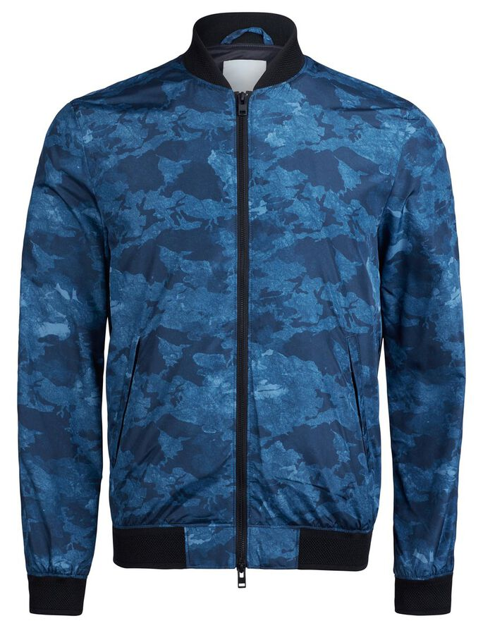 THOM 72 PRINT POLY JACKET, Indigo, large