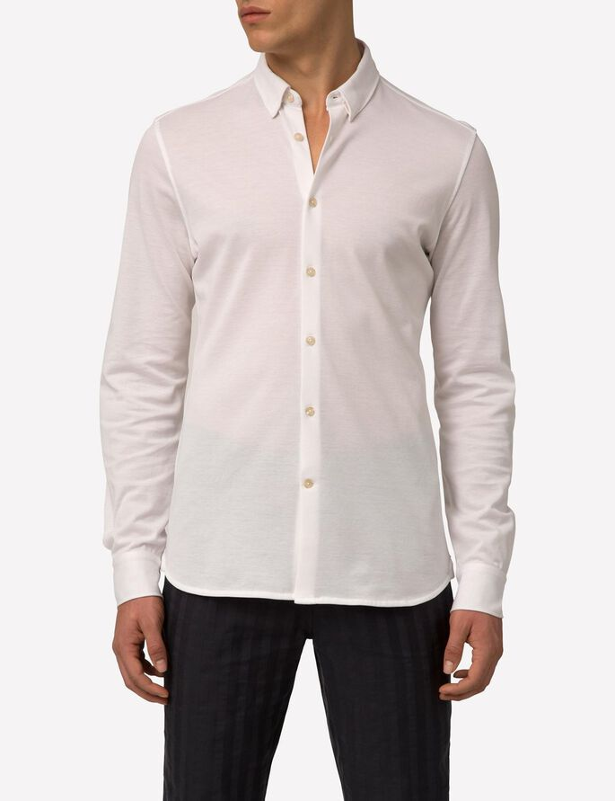 DANIEL LUX PIQUE POLO SHIRT, Off White, large