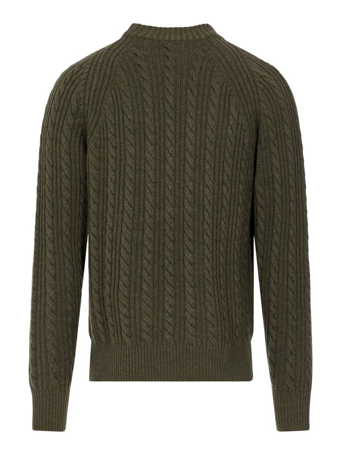 HENRY CABEL PULLOVER, Moss Green, large