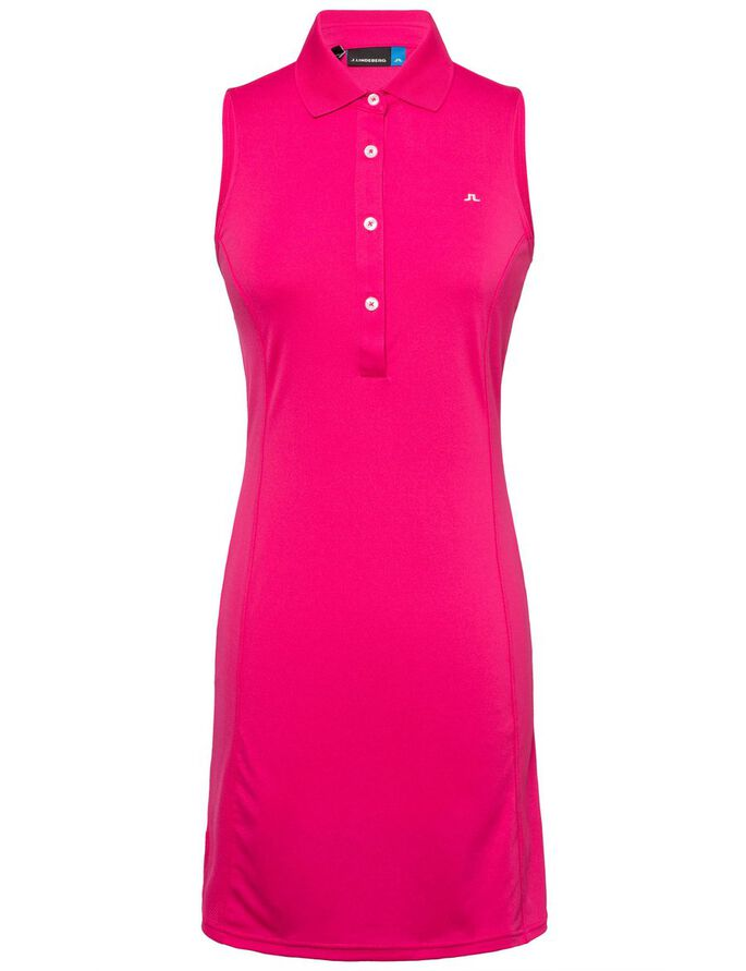 LOUISE TX JERSEY SLEEVELESS DRESS, Pink Intense, large