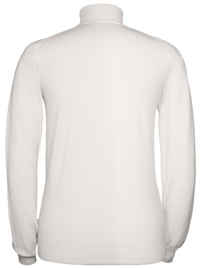 LYD TRUE MERINO TURTLENECK, Off White Mel, large