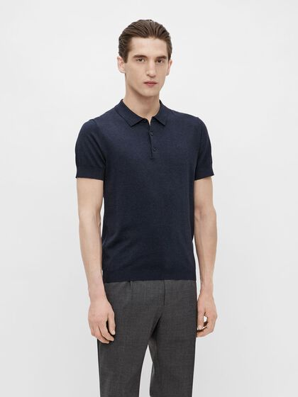 RIDGE COTTON SILK POLO SHIRT