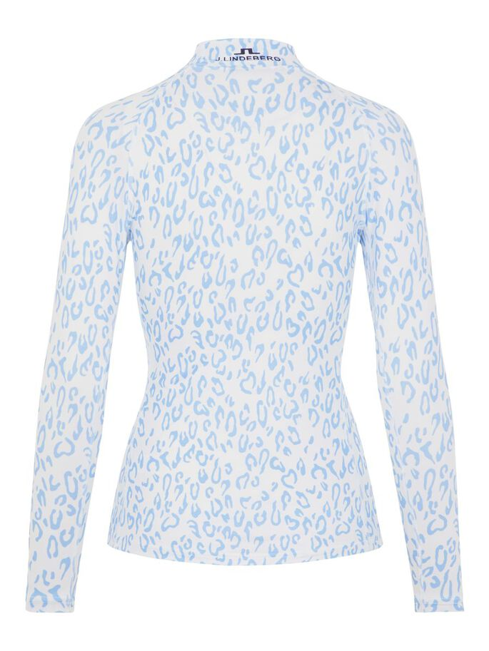 ÅSA COMPRESSION TOP, ANIMAL BLUE WHITE, large
