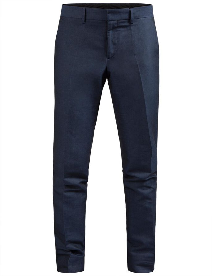 PAULIE LIGHT LINEN SUIT TROUSERS, Mid Blue, large