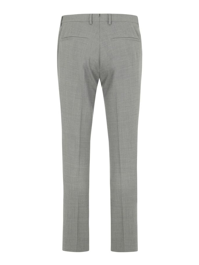 GRANT HOPSACK BROEK, Stone Grey, large