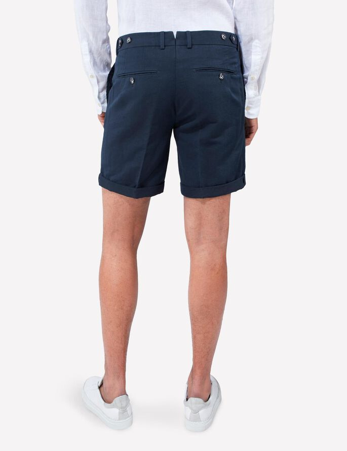 NATHAN COTTON LINEN SHORTS, Navy, large