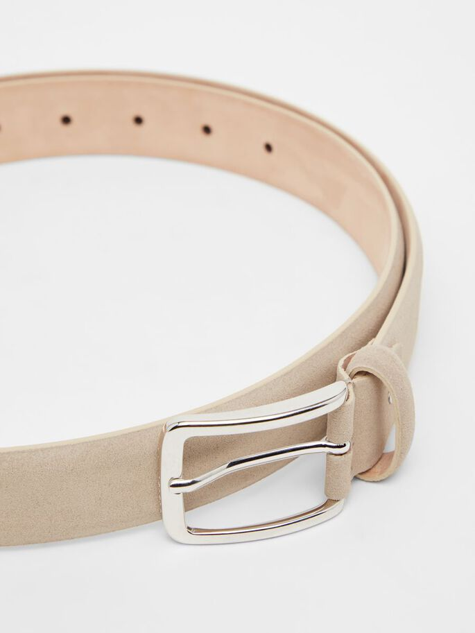 BOBBY SUEDE CEINTURE, Oyster Brown, large