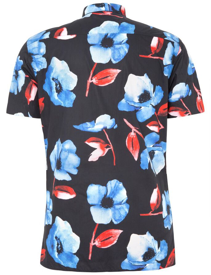 DANIEL HIBISCUS SHORT SLEEVED SHIRT, Navy, large