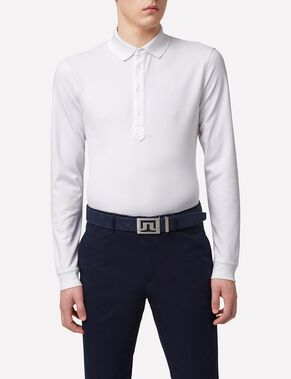 OLOF LONG-SLEEVED TX PEACHED POLO SHIRT