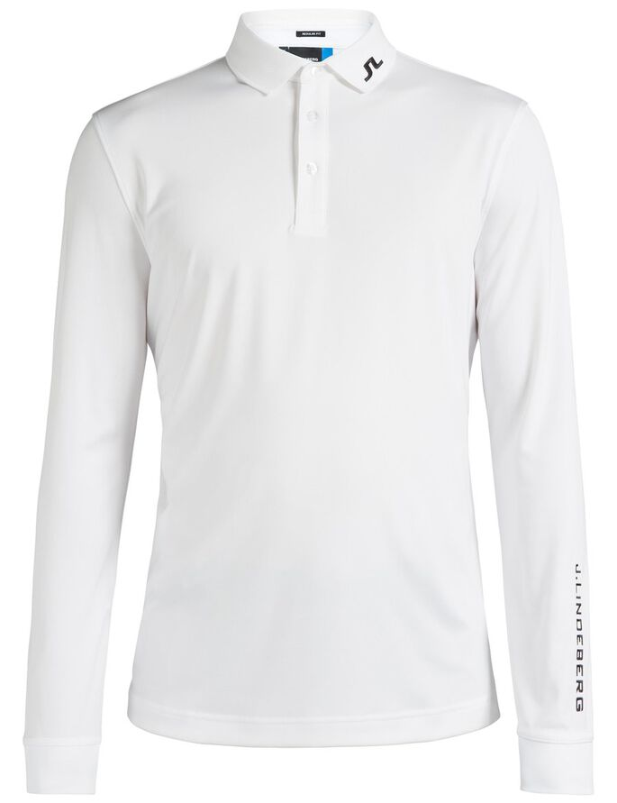 TOUR TECH LONG-SLEEVED REG TX JERSEY POLO, White, large