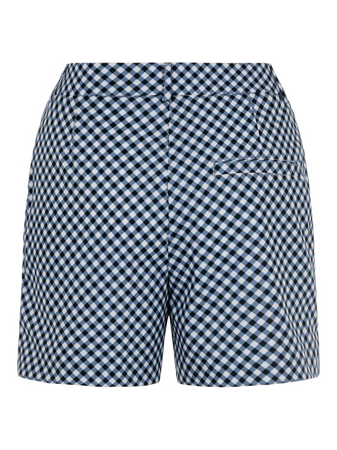 GWEN SHORTS, GINGHAM NAVY WHITE, large