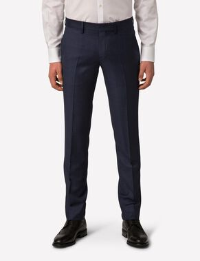 PAULIE 140S PLATINUM SUIT TROUSERS