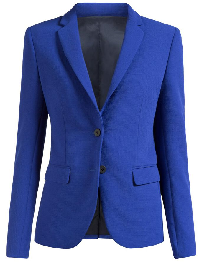 DELLA WRINKLE STRETCH BLAZER, Dk Blue/Purple, large